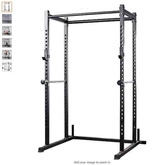 2. Rep Power Rack with Dual Pullup Bars, Numbered Uprights copy