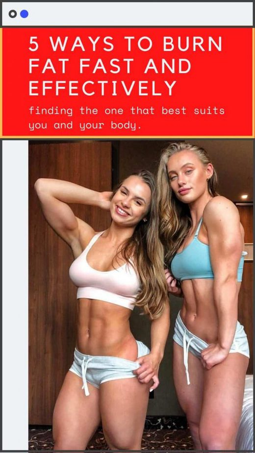 5 Ways to Burn Fat Fast and Effectively (2)