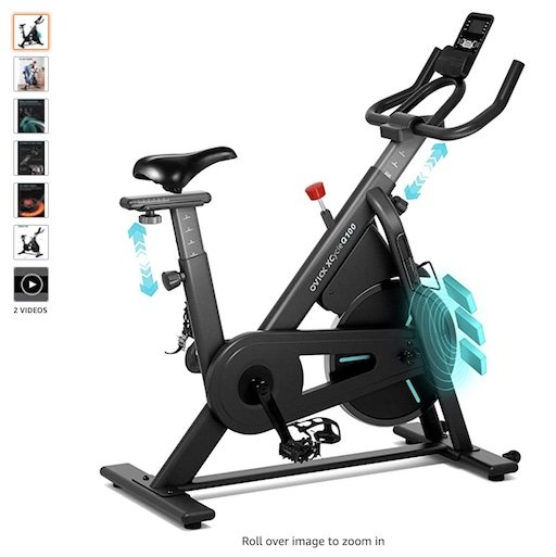 Best Spin Bikes Under 500 10 OVICX Stationary Spin Bike with Magnetic Resistance