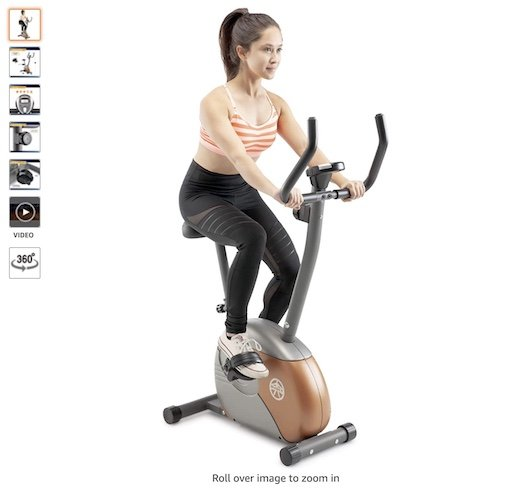 Best Upright Exercise Bikes 2 Marcy Upright Exercise Bike with Resistance ME-708