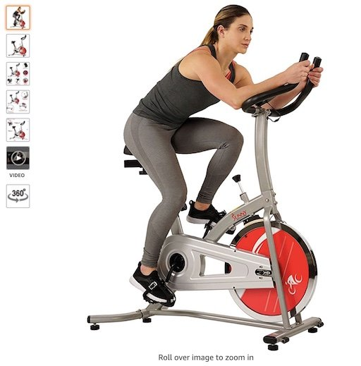 Best Spin Bikes Under $300 1 Sunny Health and Fitness Indoor Exercise 22LB