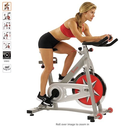 Best Spin Bikes Under $300 3 Sunny Health and Fitness Indoor Cycling Bike 40 LBS
