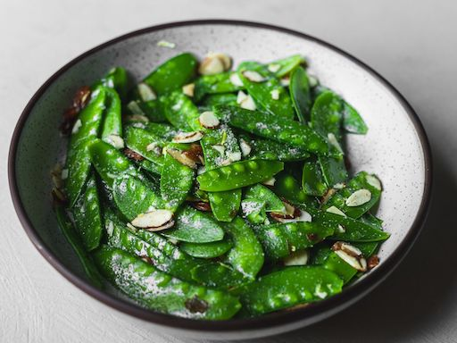Snow Peas Sautéed in Butter with Garlic copy